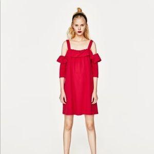 NWOT Zara Frill Dress